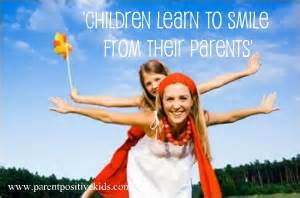 Children learn to be happy from their parents